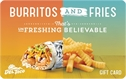 Picture of Burritos/Fries Card
